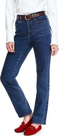 Fleckabweisende Straight Jeans in Weiß in Petite-Größe - Weiß - 34 66 von Lands End Lands End E45HsapYzk