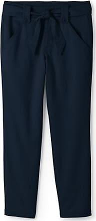 Dark Rinse Denim-Jeans mit weitem Bein - Blau - 34 76 von Lands End Lands End