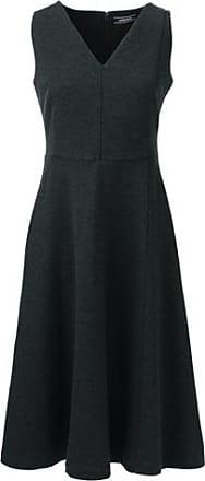 Gepunktetes Ponté-Kleid in Wickel-Optik in Petite-Größe - Blau - 34 von Lands End Lands End 6v3n3tG0