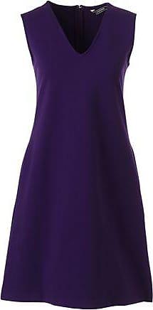 rmelloses Ponté-Kleid mit V-Ausschnitt in Petite-Größe - Lila - 34 von Lands End Lands End bluhM9Sx