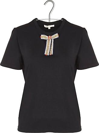 Rundhals-T-Shirt aus Baumwolle mit Stickerei Maje 7BAcEkLD