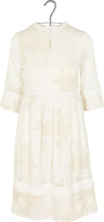 Kurzes%2c besticktes Kleid aus Seidenmix mit viktorianischem Kragen Noa Noa VEx6hyw