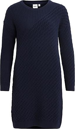 Strick- Kleid Dames Blauw Object