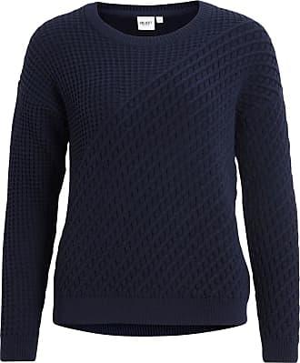 Gestrickter Ripp- Pullover Dames Grijs Object