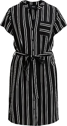 Schlichtes Kleid Mit Kurzen Ärmeln Dames Zwart Object Xuw9rrU