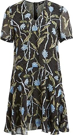 Jersey Kleid Mit Kurzen Ärmeln Dames Blauw Object WIdbbd