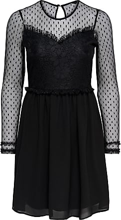 Curvy Mesh Kleid Dames Zwart Only An78hZyw