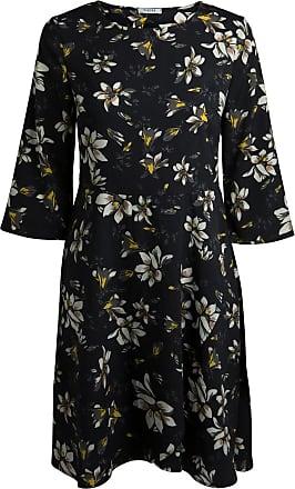 Gemustertes%2c Langärmeliges Kleid Dames Zwart Pieces S9Vdx3nj0