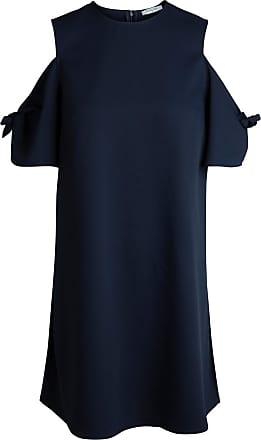 Solid Cold Shoulder Dress Dames Blauw Pieces hjJBi