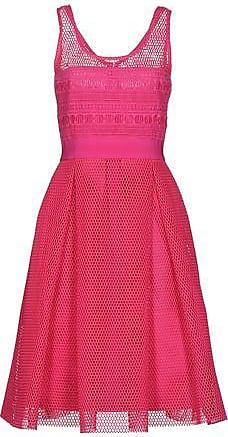 Kleid in Kreppgewebe mit Rüschen Hülsen 3/4 P47PINK Pinko 6Dtwbnsg