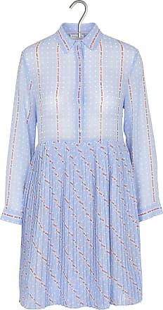 Wasserblaues Plissee-Kleid I.Code QBYkkvdpy