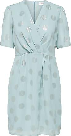 Gepunktetes Kleid Mit Kurzen Ärmeln Dames Grijs Selected PP7oS