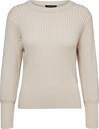 Woll Strickpullover Dames Grijs Selected EKZzZDW