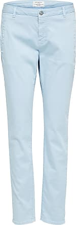 Klassische Chino Dames Blauw Selected