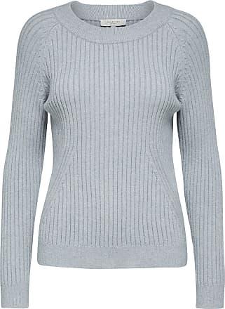 Locker Geschnittenes Sweatshirt Dames Grijs Selected k6red