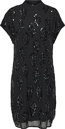 Drapiertes Kleid Mit Kurzen Ärmeln Dames Zwart Selected NzO2w7Zif5