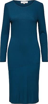 Slim Fit Kleid Mit Langen Ärmeln Dames Blauw Selected NxW7HVQjg