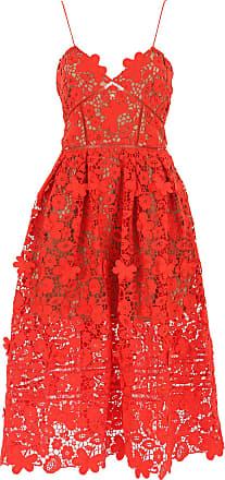 Kleid für Damen Günstig im Sale%2c Rot%2c Polyester%2c 2017%2c 40 Self Portrait RRD2KMf6dp