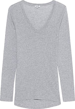 Light Jersey Long Sleeve Scoop Tee Heather Grey - M%2c Grau Splendid