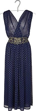 Langes%2c tailliertes Kleid mit gestickten Tupfen aus Lurex Swildens 3jWCBWbHus