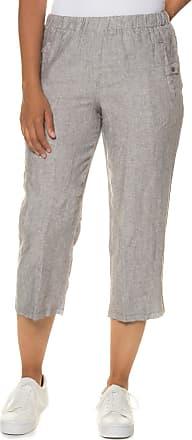 Große Größen Ulla Popken Damen 7/8-Leinenhose, elastischer Bund, Eingrifftaschen, Grau, Gr. 42,44,46,48,50,52,54,56,58,60 Ulla Popken