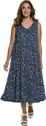 Große Größen Ulla Popken Damen Kleid%2c Blütenmuster%2c elastische Taillennaht%2c Mesh%2c Jersey-Unterkleid%2c Mehrfarbig%2c Gr. 42/44%2c46/48%2c50/52%2c54/56%2c58/60%2c62/64 Ulla Popken U7ymn