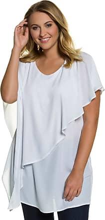 Große Größen Ulla Popken Damen Bluse%2c Metallic-Schimmer%2c transparente Schultern%2c Grün%2c Gr. 42%2c46%2c44%2c48%2c50%2c52%2c54 Ulla Popken uzDGQmf