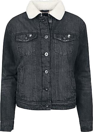 Ladies Sherpa Cordury Jacket Girl-Jacke schwarz Urban Classics o6ar2uZ