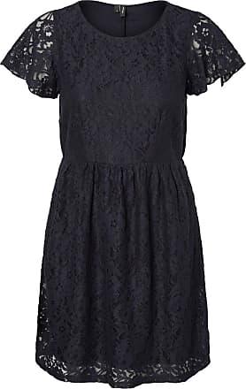 Spitzen- Kurzkleid Dames Zwart Vero Moda mUzPIpzKw
