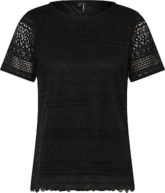 Spitzenshirt HONEY schwarz Vero Moda o37Lq4hQZ