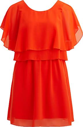 Tief Ausgeschnittenes Kleid Mit Kurzen Ärmeln Dames Oranje Vila G6ff5m2oo