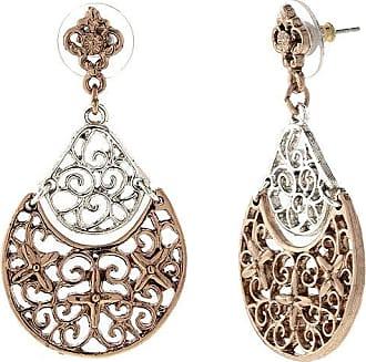 1928 Jewelry 1928 Vintage Inspirations Brass Drop Earrings
