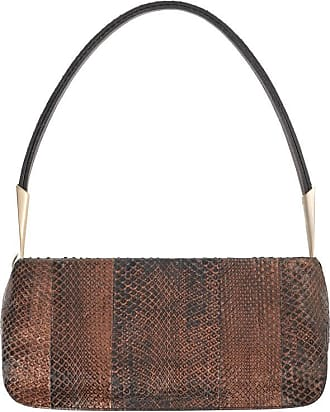 1stdibs Bottega Veneta Bronze Metallic Snakeskin Leather Baguette Shoulder Bag Purse