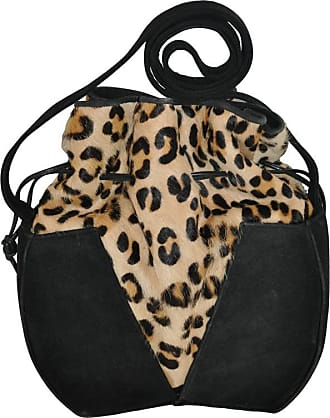 1stdibs Gino Black Suede & Leopard Print Stamped Pony-skin Hobo Shoulder Bag