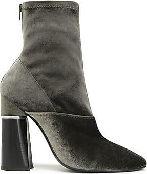 3.1 Phillip Lim Woman Velvet Boots Forest Green Size 36.5 3.1 Phillip Lim