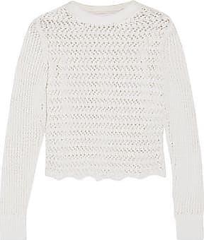 3.1 Phillip Lim Woman Open-knit Cotton-blend Top White Size XS 3.1 Phillip Lim