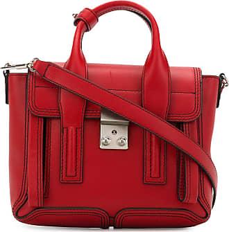 Mini Pashli Satchel Tasche aus hell fuchsia geprägtem Kuhleder 3.1 Phillip Lim