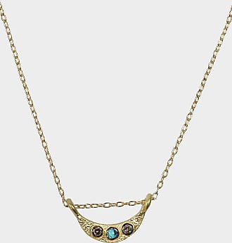 Bibi Necklace in Gold-Plated Silver and Diamonds 5 OCTOBRE