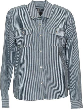 A.p.c. Woman Metallic Striped Woven Silk-blend Shirt Ecru Size 34 A.P.C.
