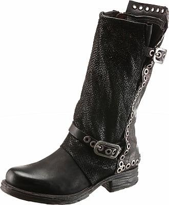 A.S.98 Cowboy Boots, im coolen Used Look, schwarz, EURO-Größen, schwarz