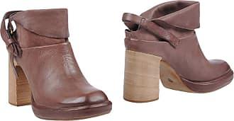 A.S.98 High-Heel-Stiefelette, mit Perforation, grau, EURO-Größen, grau