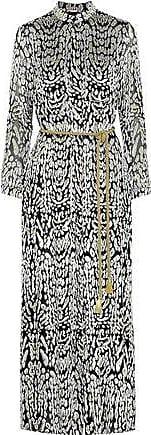 Adam Lippes Woman Belted Metallic Fil Coupé Chiffon Maxi Dress Ivory Size 10 Adam Lippes