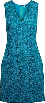 Adam Lippes Woman Cotton-blend Guipure Lace Mini Dress Teal Size 4 Adam Lippes