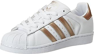 adidas Superstar, Sneakers Basses Mixte Adulte, Blanc (Footwear White/Bold Blue), 44 EU