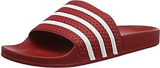 adidas Adilette, Unisex-Erwachsene Badeschuhe, Rot (Light Scarlet/white/light Scarlet), 44 2/3 EU