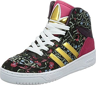 adidas Damen M Attitude W High-Top  FLORAL-BLACK/GOLD/WHITE