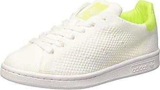 Adidas Stan Smith Primeknit, Zapatillas para Mujer, Blanco (Footwear White/Footwear White/Solar Yellow), 37 1/3 EU adidas