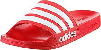 adidas Adilette, Unisex-Erwachsene Badeschuhe, Rot (Light Scarlet/White/Light Scarlet), 47 1/3 EU