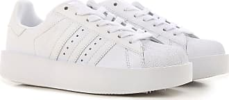 Sneakers for Women On Sale, Superstar Bold, White, Leather, 2017, USA 5 UK 3 5 EU 36 JAPAN 220 adidas