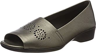 Four William ANAFI Mocasines Mujer, Silber (Gun Metal), 42 EU (8 UK) Aerosoles